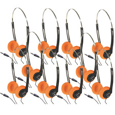 10 x Soundlab Lightweight Stereo Headphones for Schools Tour Companies Bulk Buy