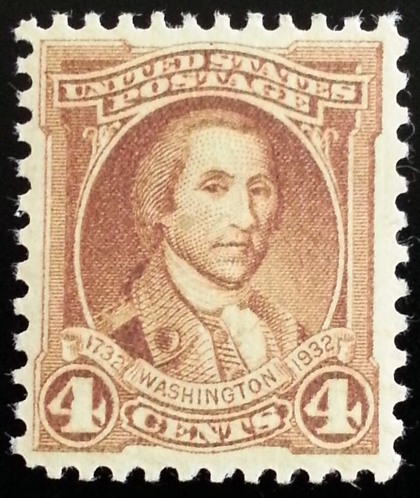 1932 4c George Washington, Polk Scott 709 Mint F/VF NH