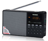 Tecsun D3 Portable Rechargeable Fm Radio With Micro Sd Tf Mp3 Player