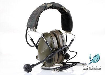 Z-Tactical Z042 DEVGRU zPELTOR Style Headset w/ Noise Cancellation - OD