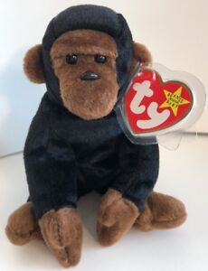 8365af9920a TY Beanie Babies 1996 Congo The Gorilla 5th Generation Swing Tag W ...