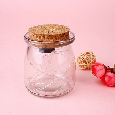 Jar Hanging Glass Bottle Lamp For Garden Courtyard Fairy Battery Party