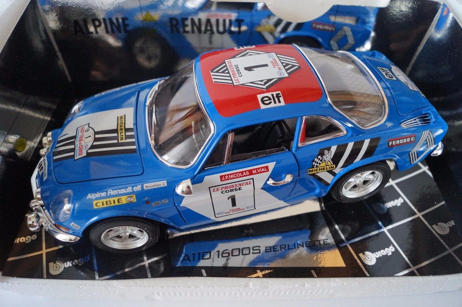 BBURAGO BURAGO voiture miniature 1 18 RENAULT ALPINE A 110 Berlinette nº 1  dans neuf dans sa boîte