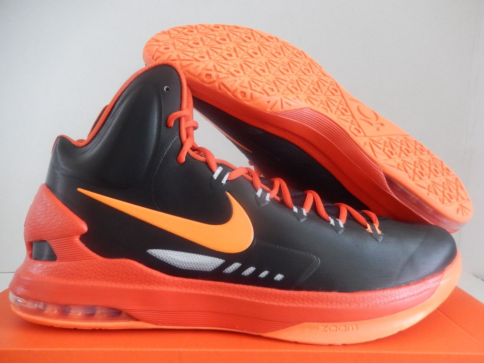 NIKE KD V BLACK-TOTAL ORANGE-TEAM ORANGE-GREY Price reduction