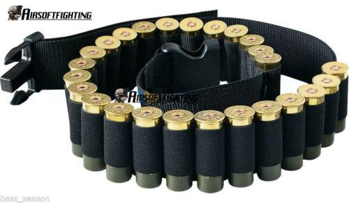 Ceinture tactique 12GA pour fusil de chasse 25 Porte-munitions pour munitions BK