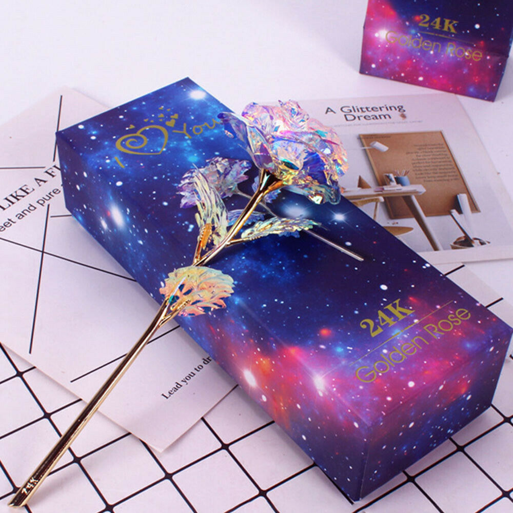 Colorful Rose Infinity Rose Galaxy Rose Flower Gifts with Luxury Gift Box for Valentines Day Thanksgiving Mothers Day