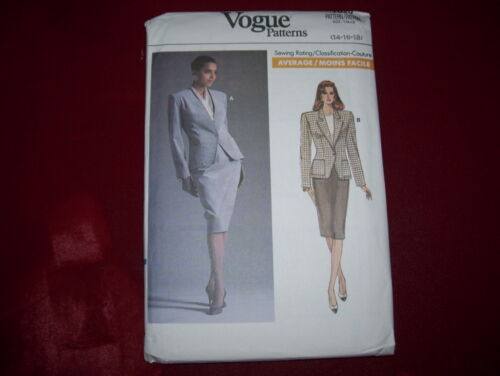 LADIES TWO STYLE BUSINESS JACKET /& PENCIL SKIRT PATTERN  14-18 FF VOGUE #7020