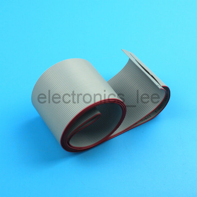 1 meter 40 way gray flat ribbon cable 1.27mm pitch  for 2.54mm FC connectors