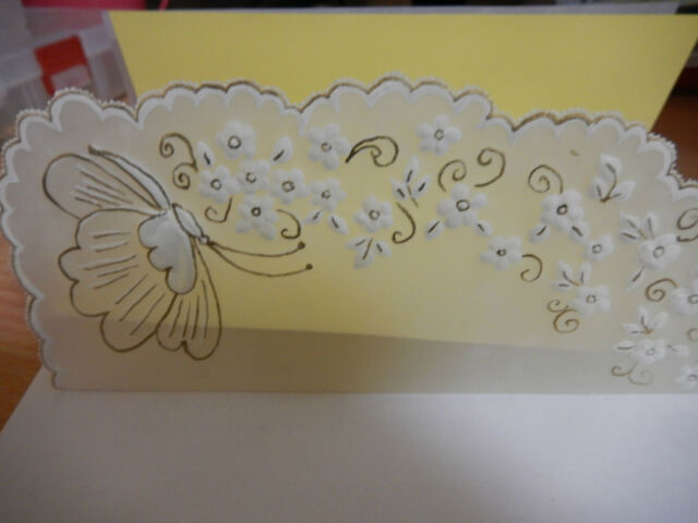 Note Paper- Beutiful Handmade Parchment Work Note Paper Yellow