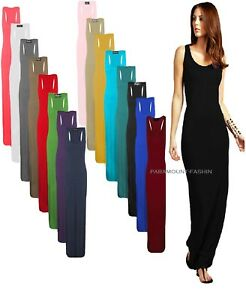 Women-Ladies-Jersey-Long-Summer-Vest-Racer-Muscle-Back-Maxi-Dress-Plus-Size-8-26
