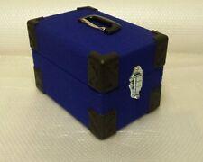 NEW 7inch record box singles case, retro blue  FREE POSTAGE.