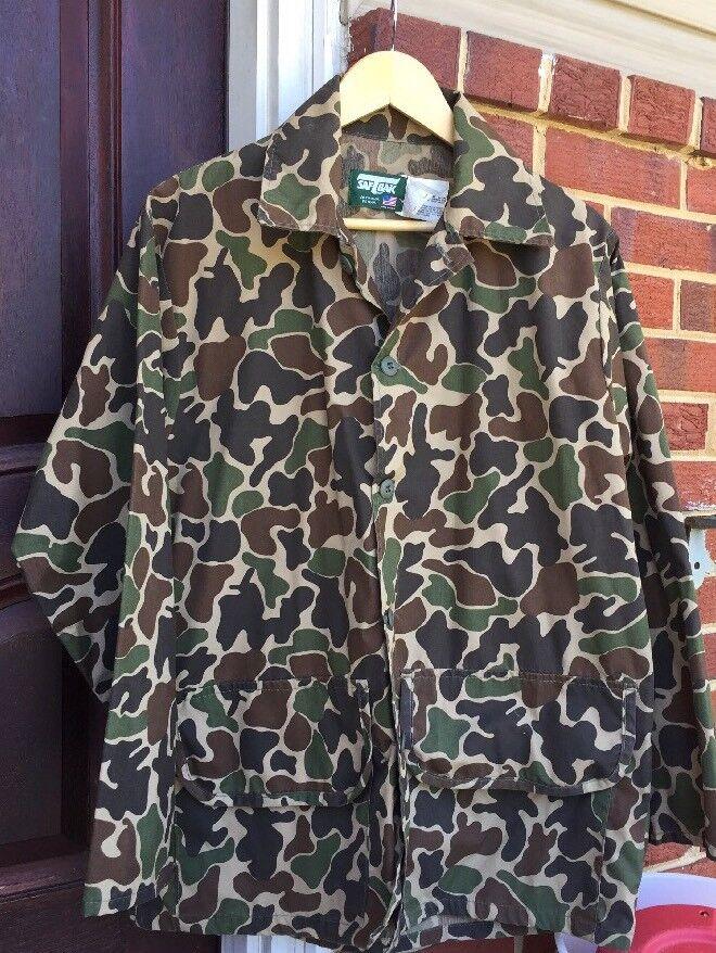 Vintage SAFTBAK Lightweights Hunting Camouflage hemd jacke.