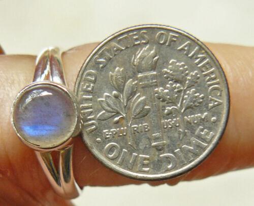 Labradorite Sterling Silver Ring Natural Gemstone ring Blue or Green