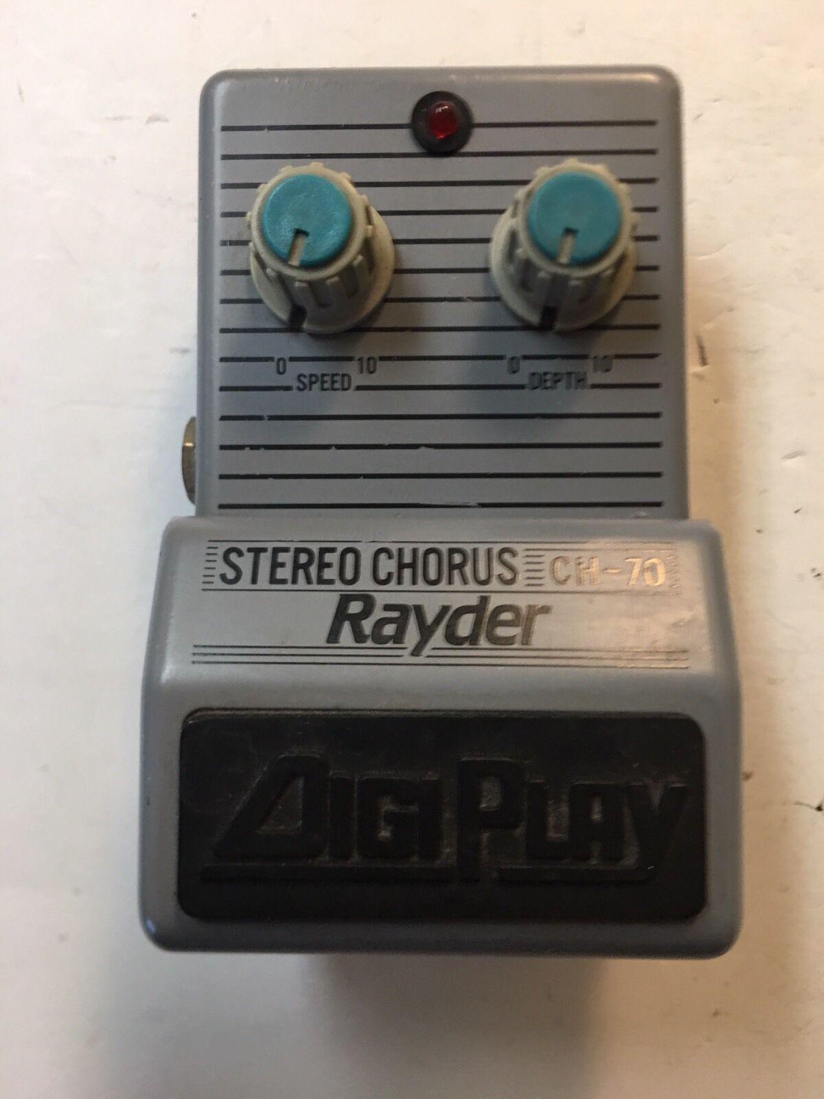 Digiplay Digiplay Digiplay Rayder CH-70 Analog Chorus Rare Vintage Guitar Effect Pedal MIJ Japan 31a33b