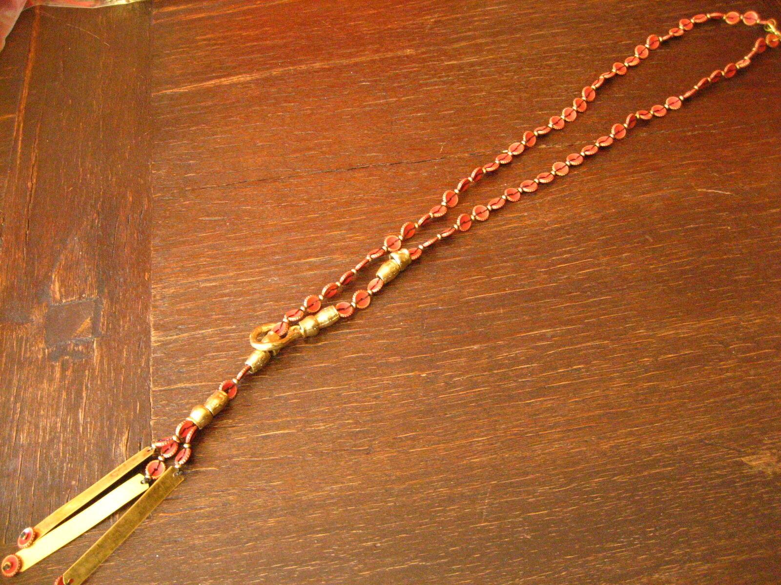 Ausgefallene ultra coole Statement Collier Kette Designer Leonardi Arte red gold