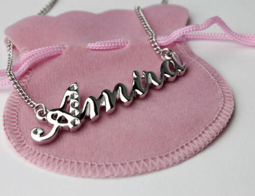 """/""""AMIRA/"""" Name Necklace 18K Gold PlatedBirthday PresentGift for Sister"""