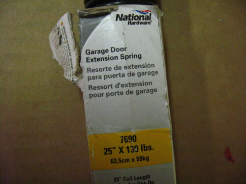 """I-7 Stanley National N281-071 130 Pound Black Garage Door Extension Spring 25/"""""""
