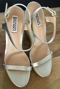 d17c3f3ee6a Details about Badgley Mischka Women's Clea Espadrille Wedge Sandal Platino  9.5