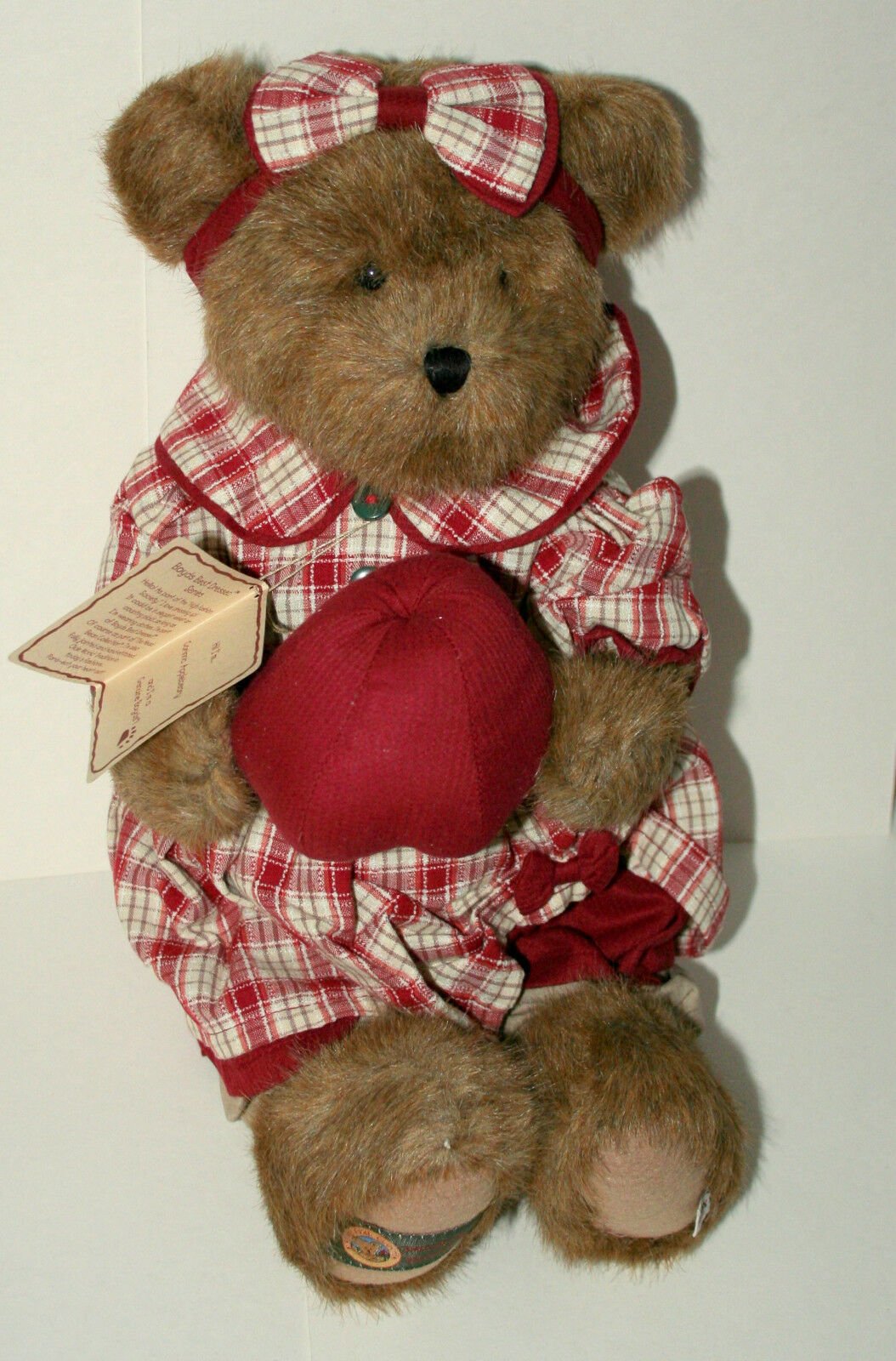 Boyds Corinna Applebeary Bear Teddy Plush 15  New in bag Tags NOS 2006 Exclusive