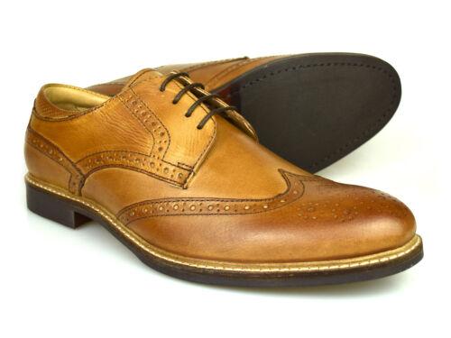 Rouge Tape Backford Homme en Cuir Beige Gibson Chaussures RRP £ 50 GRATUIT UK p/&p!
