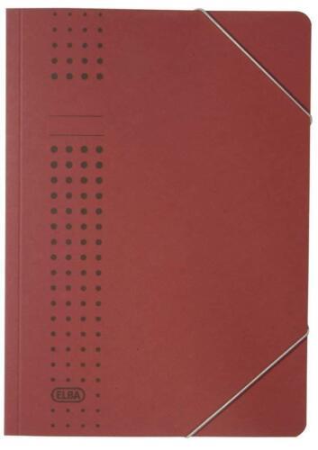 Elba 400010103 Aktendeckel und Aktenhüllen Eckspanner A4 bordeaux