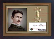 Nikola Tesla signed autograph photo picture Framed print