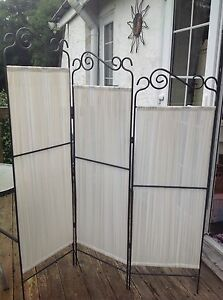 details about folding 3 panel room divider screen