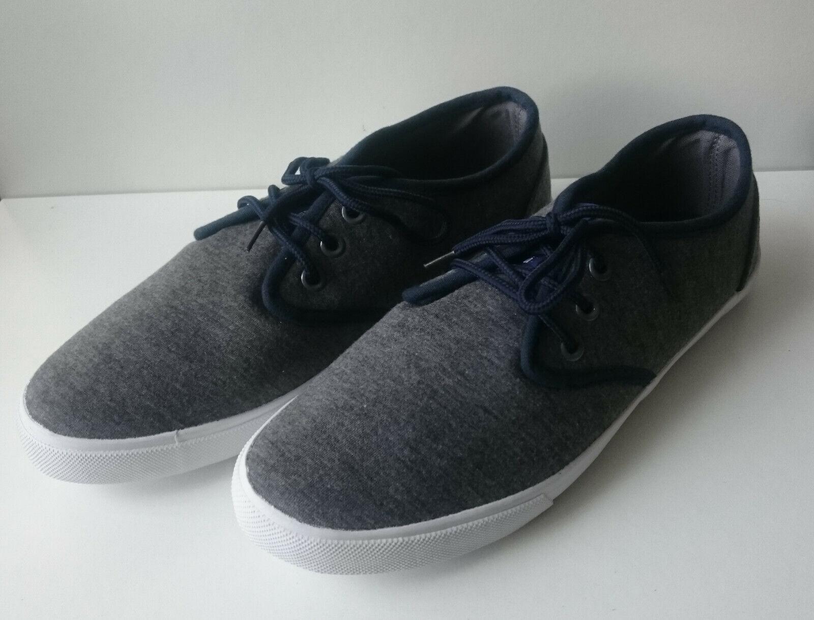 Grey / Navy Canvas Pumps Shoes - Size