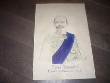 DESSIN ORIGINAL CRAYON RUSSE RUSSIAN SIGNE COMTE MOURAVIEFF CHANCELIER DE RUSSIE