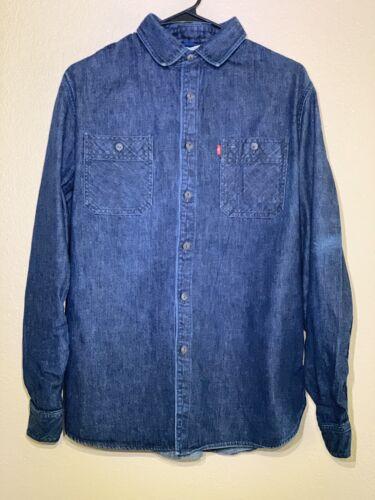 Large Levis Pendleton Jacquard Denim Wool Shirt Co