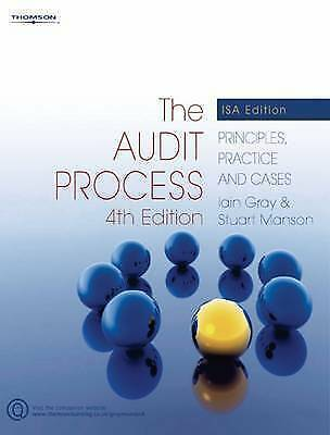 """""""AS NEW"""" The Audit Process: Principles, Practice and Cases, Stuart Manson, Iain"""