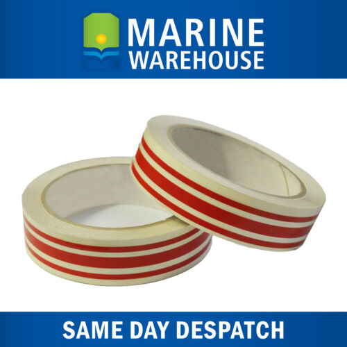 Red Triple Pinstripe Vinyl Decorative Boat Tape PSP Marine 19mm X 10M 401962