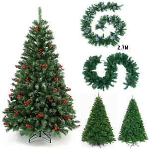 Artificial Christmas Trees Uk.Details About Artificial Christmas Tree With Stand Holiday Indoor Outdoor Hinged Celebrate Uk