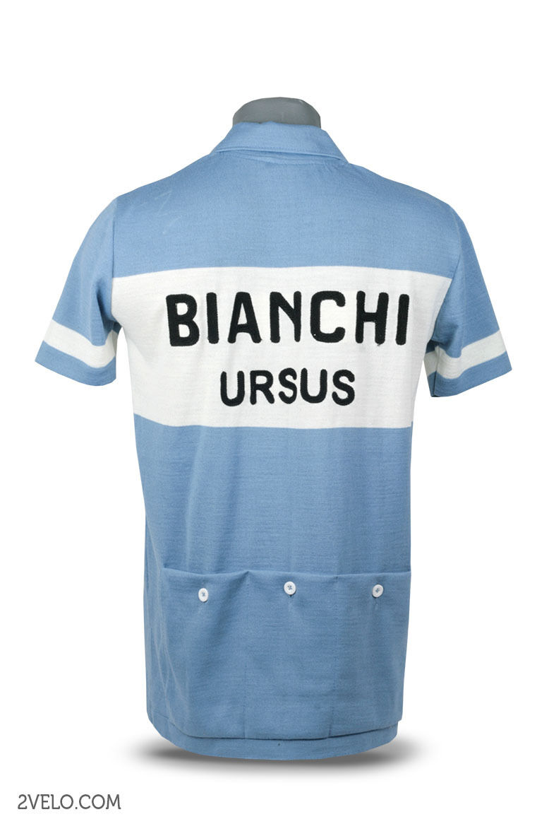 Bianchi Ursus vintage style maglia, wool jersey, chainstitch embroidery, maglia, style maillot fbfafc