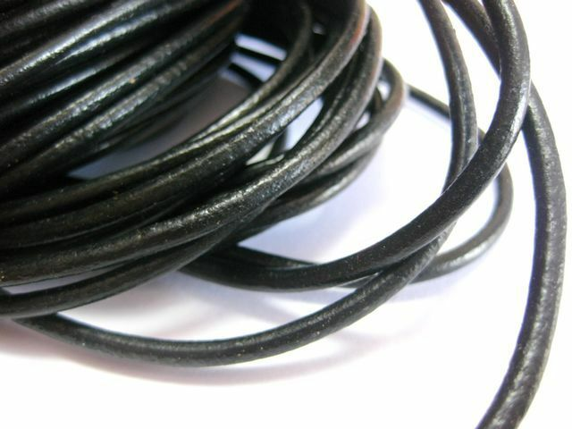 6 feet genuine leather for earrings 1.5 mm round black leather for necklace genuine leather leather for bracelets black leather cord