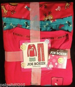 Joe Boxer Juniors  Christmas Dog Puppy Santa Paws Pajama   Sleepwear ... 7640522b5