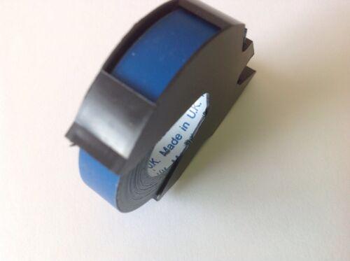 """Dymo compatible tape cassette 9mm x 3M Matt Blue branded /""""Made in UK/"""""""
