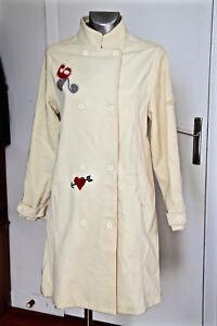 lujoso-abrigo-abrigo-cachemira-lana-blanco-MOSCHINO-T-13-15-ans-NUEVO