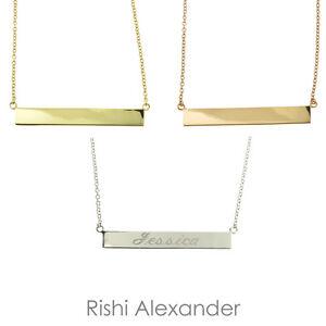 horizontal name necklace