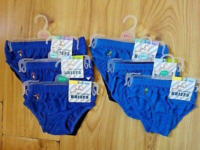 2 PACK BOYS COTTON FOOTBALLER PRINT BRIEFS PANTS BLUE,NAVY,BLACK 2-6 years