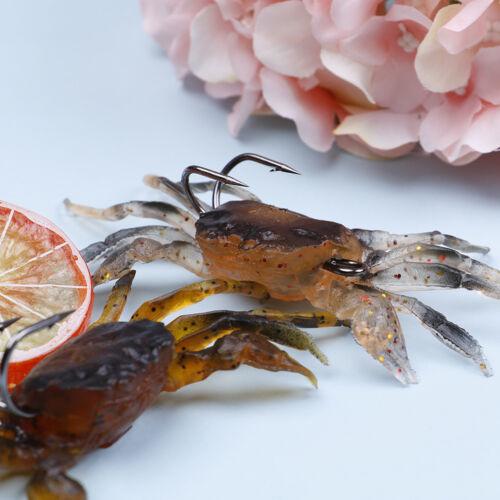 Crankbaits-Hakengerät-Simulationsköder lockern die weichen Krabben 3d die Kö YB