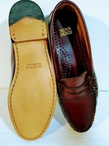066f4dcb27e Nunn Bush Penny Loafers size 9.5 wide Mens Burgundy leather sole