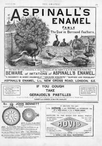 1893-Antique-Print-ADVERTISING-Aspinalls-Enamel-Geraudels-Pastilles-Hovis-113