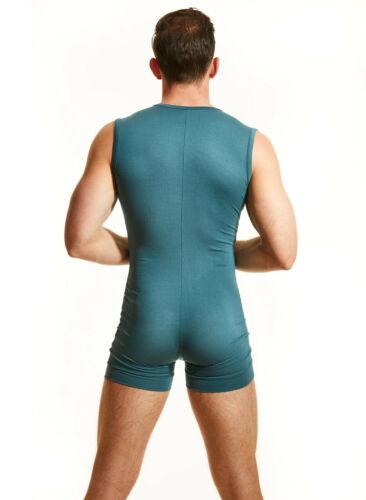 N2N Bodywear Men Teal blue Rayon onezee lounge wear size M L XL