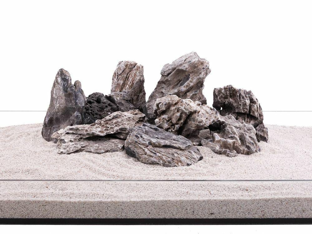 Aquarium Natursteine Mini Landschaft Seiryu Steine grau 20 Kg Gr.L 1-2 Kg Nr.68