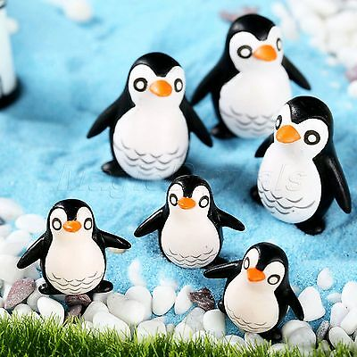10 x Mini Penguins Figurine Cute Landscape Garden Ornament Bonsai Decor Craft