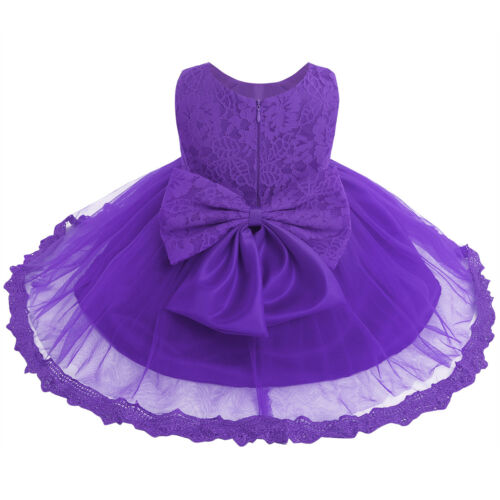 Baby Girls Floral Lace Princess Wedding Bridesmaid Pageant Party Tutu Gown Dress