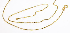 """18K Solid gold sparkling bead necklace CHAIN  (18"""")"""