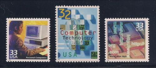MINT CONDITION 1980/'s PC/'s WORLD WIDE WEB 3 STAMPS COMPUTER TECHNOLOGY