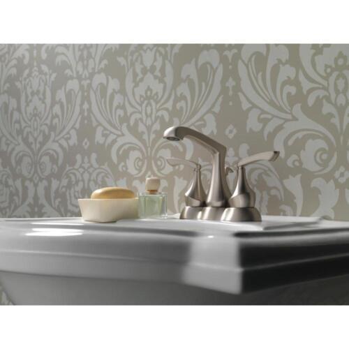 "Delta 25750LF-SP Merge 4/"" Center 2-Handle Bath Faucet SpotShield Brushed Nickel"